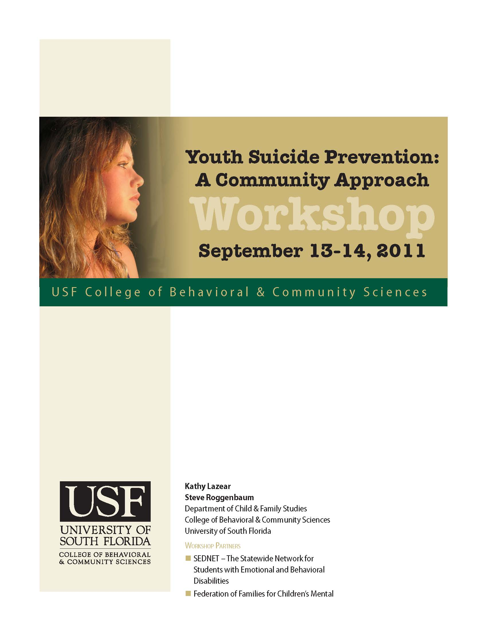 Intensive Youth Suicide Prevention Training for Schools and Communities