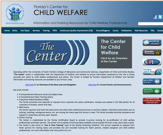 Florida's Center for Child Welfare